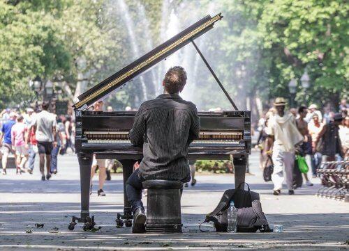 Passie voor muziek op de piano
